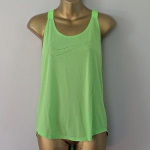 Nike neon green tank top size small new